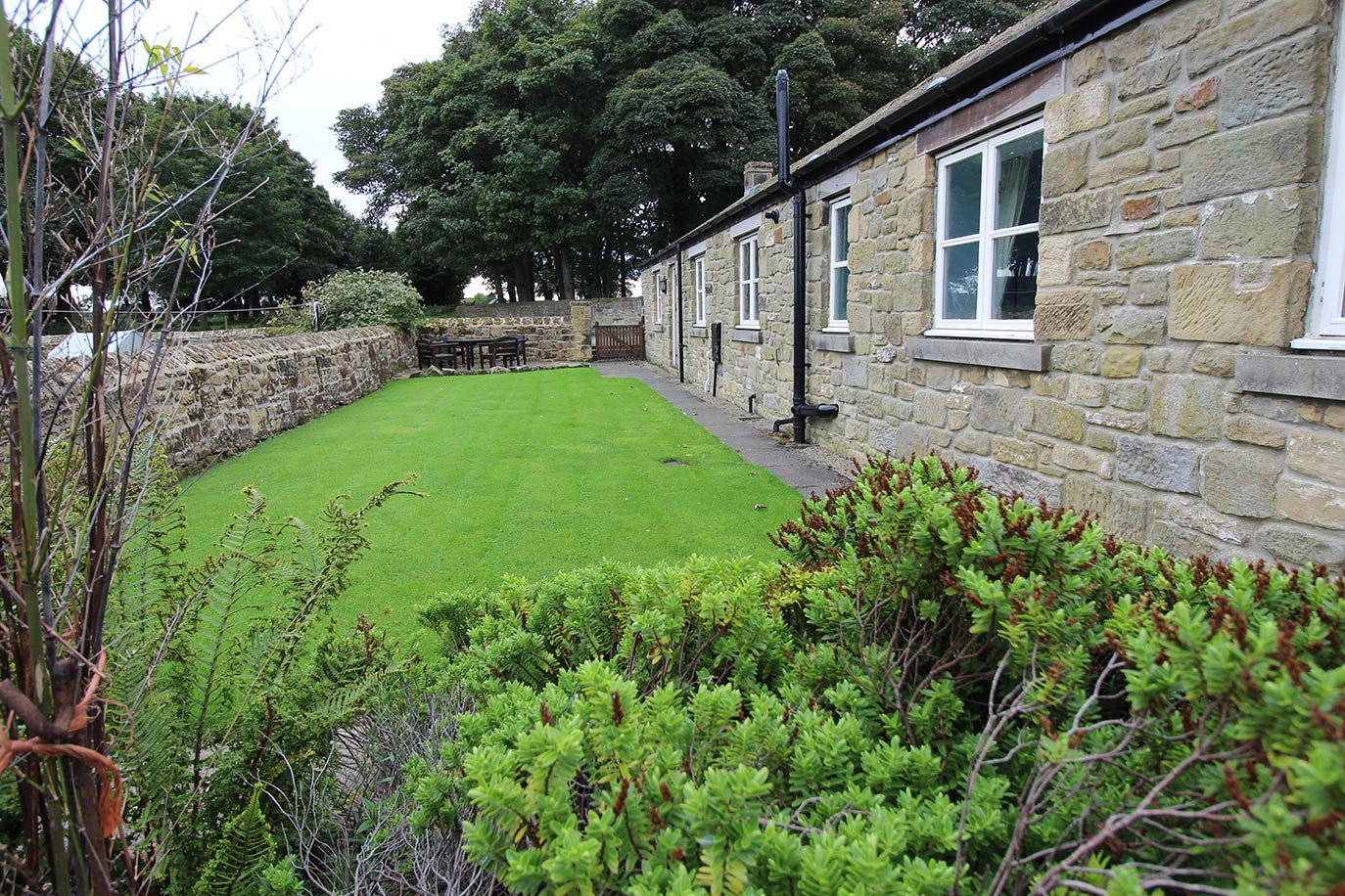Forge Cottage private garden | Burradon Farm Houses & Cottages