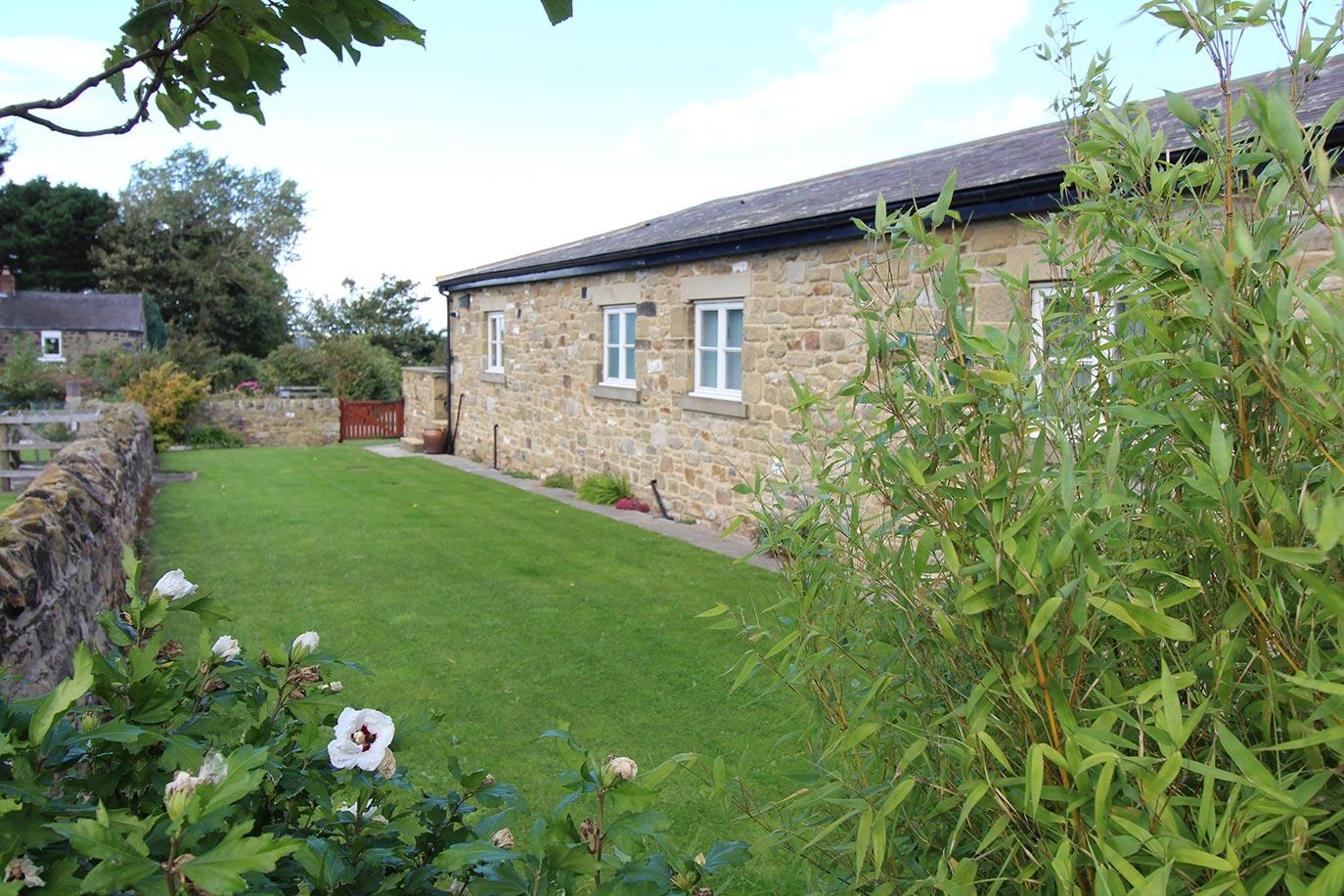 Wheatlands Cottage private garden |Burradon Farm Houses & Cottages
