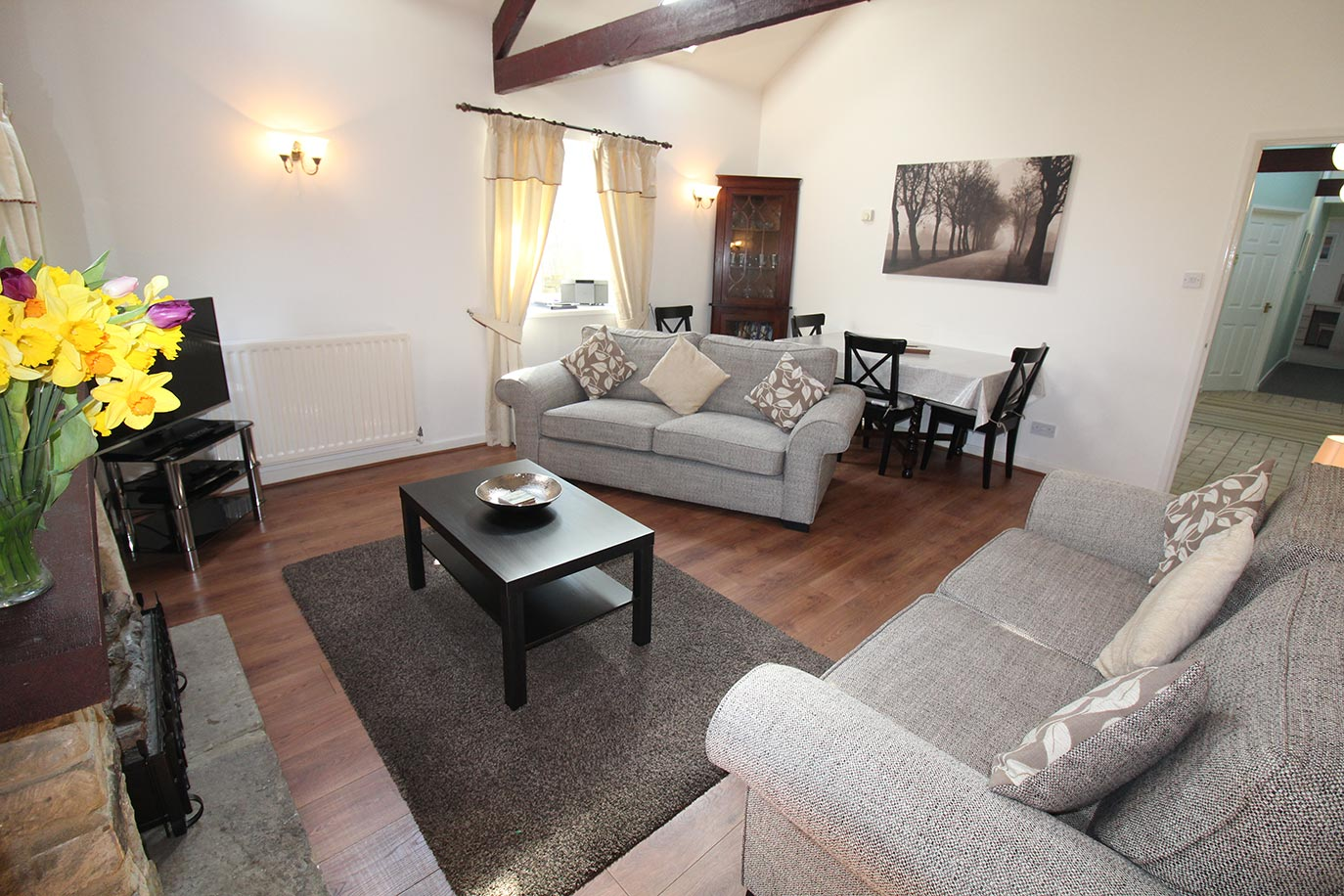 Pele Cottage lounge | Burradon Farm Houses & Cottages