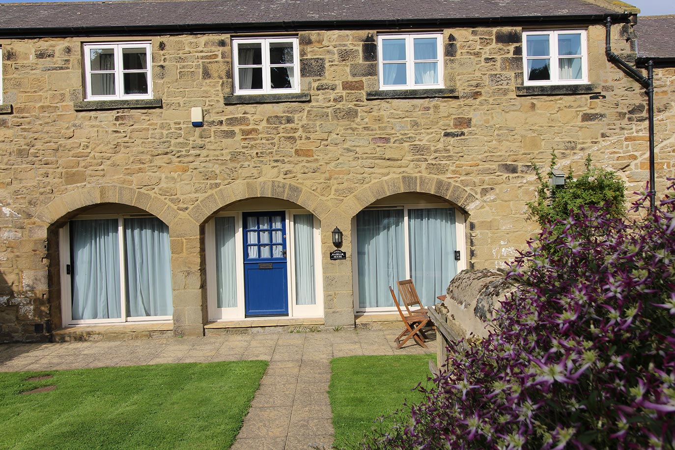 Haselor House front garden | Burradon Farm Houses & Cottages