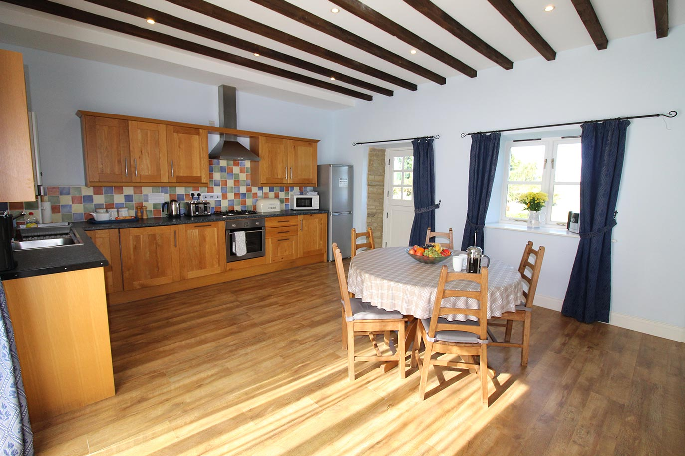 Haselor House kitchen and dining area | Burradon Farm Houses & Cottages
