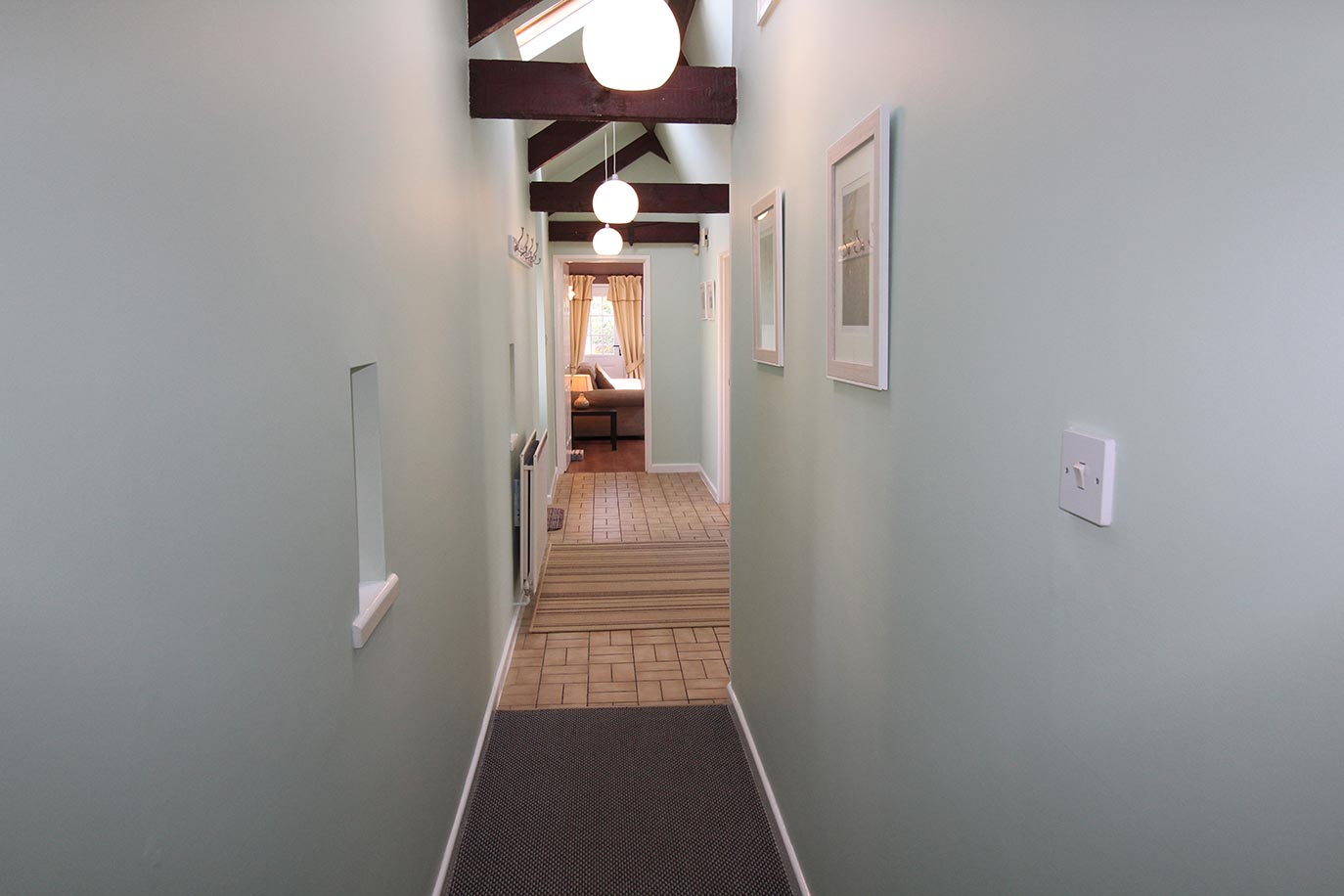 Pele Cottage hallway | Burradon Farm Houses & Cottages