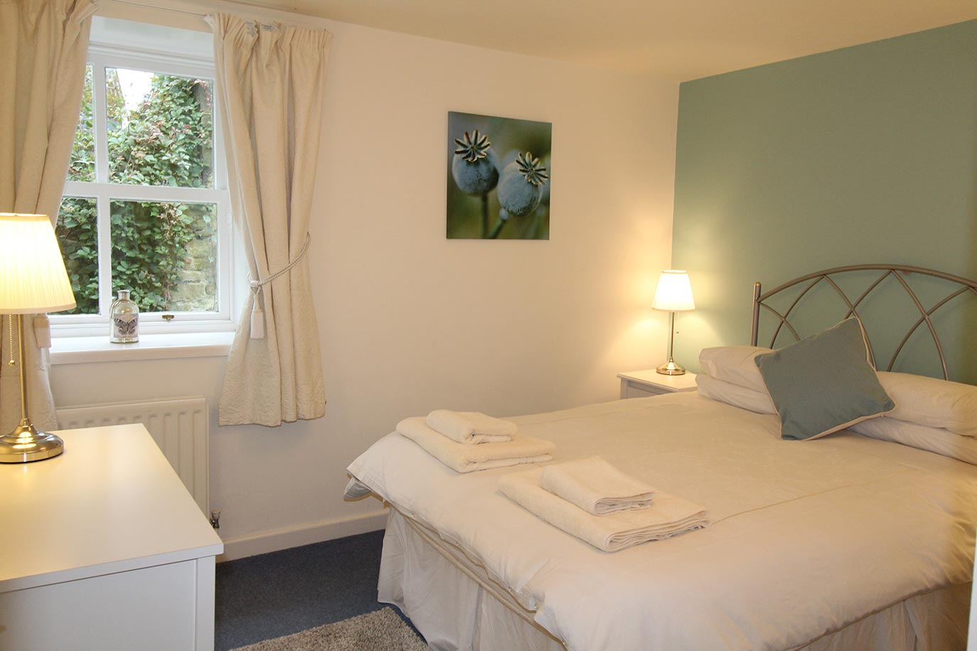 Pele Cottage bedroom | Burradon Farm Houses & Cottages