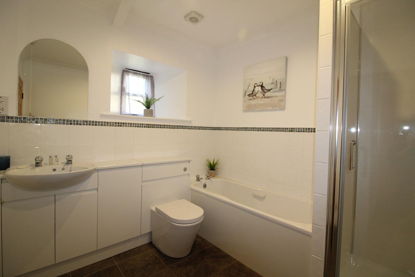 Buttermilk Family Bathroom